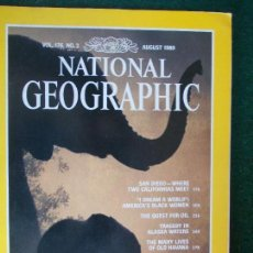 Coleccionismo de National Geographic: NATIONAL GEOGRAPHIC AGOSTO 1989 89 EN INGLÉS. Lote 95792975