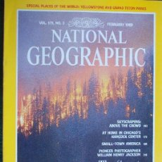 Coleccionismo de National Geographic: NATIONAL GEOGRAPHIC FEBRERO 89 1989 EN INGLÉS. Lote 95793867