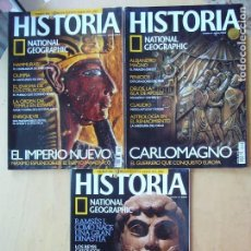 Coleccionismo de National Geographic: LOTE 3 REVISTAS HISTORIA NATIONAL GEOGRAPHIC NOS. 20 -22-.36. Lote 98342383