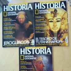 Coleccionismo de National Geographic: LOTE 3 REVISTAS HISTORIA NATIONAL GEOGRAPHIC NOS. 24, 25, 27. Lote 98343439