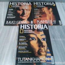 Coleccionismo de National Geographic: LOTE 3 REVISTAS HISTORIA - NATIONAL GEOGRAPHIC - NUMERO 1 - 2 Y 3 - PRIMEROS NUMEROS 2003. Lote 98389207