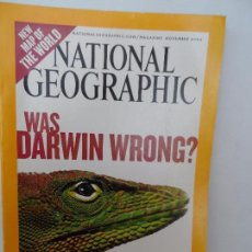 Coleccionismo de National Geographic: WAS DARWIN WRONG ? NOVEMBER 2004 . Lote 98814251