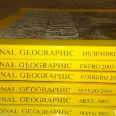 Coleccionismo de National Geographic: LOTE NATIONAL GEOGRAPHIC. 6 REVISTAS, DE DICIEMBRE DE 2002 A MAYO DE 2003. ORDEN CRONOLÓGICO. RÚSTIC. Lote 101859602
