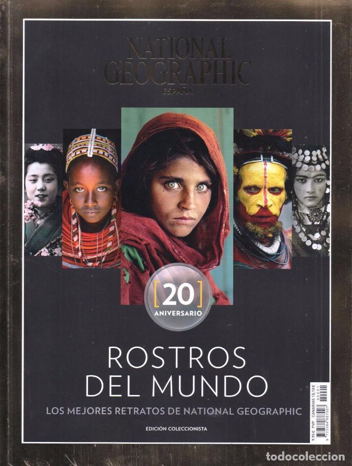 NATIONAL GEOGRAPHIC ESPECIAL ROSTROS DEL MUNDO 20 ANIVERSARIO: LOS MEJORES RETRATOS (PRECINTADA) (Coleccionismo - Revistas y Periódicos Modernos (a partir de 1.940) - Revista National Geographic)