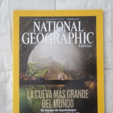 Coleccionismo de National Geographic: REVISTA NATIONAL GEOGRAPHIC ESPAÑA FEBRERO 2011 LA CUEVA MAS GRANDE DEL MUNDO. Lote 108062371