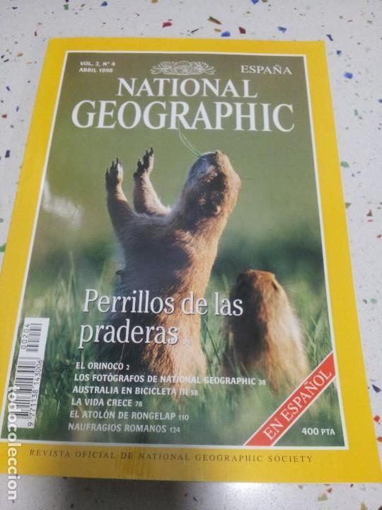 NATIONAL GEOGRAPHIC PERILLOS DE LAS PRADERAS ABRIL 1998 (Coleccionismo - Revistas y Periódicos Modernos (a partir de 1.940) - Revista National Geographic)