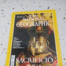 Coleccionismo de National Geographic: NATIONAL GEOGRAPHIC SACRIFICIO INCA NOVIEMBRE 1999. Lote 110013675