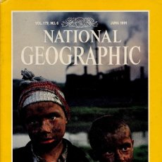 Colecionismo da National Geographic: NATIONAL GEOGRAPHIC. ED INGLESA.VOL 179. Nº 6 - JUNIO 1991 - RIO COLORADO,LEWIS CARROLL,MURCIELAGOS. Lote 111685475