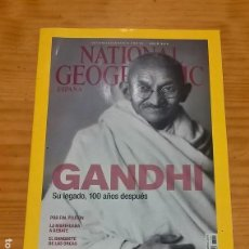 Coleccionismo de National Geographic: REVISTA NATIONAL GEOGRAPHIC - GANDHI, SU LEGADO 100 AÑOS DESPUÉS - JULIO 2015. Lote 115129215