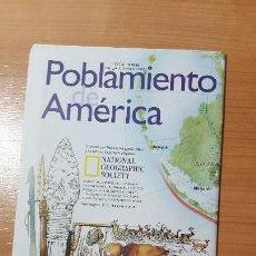 Coleccionismo de National Geographic: POBLAMIENTO DE AMERICA, MAPA REVISTA NATIONAL GEOGRAPHIC, DICIEMBRE 2000. Lote 116301851