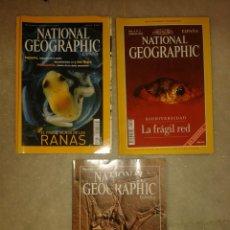 Coleccionismo de National Geographic: LOTE DE 3 REVISTAS NATIONAL GEOGRAPHIC. Lote 117020967