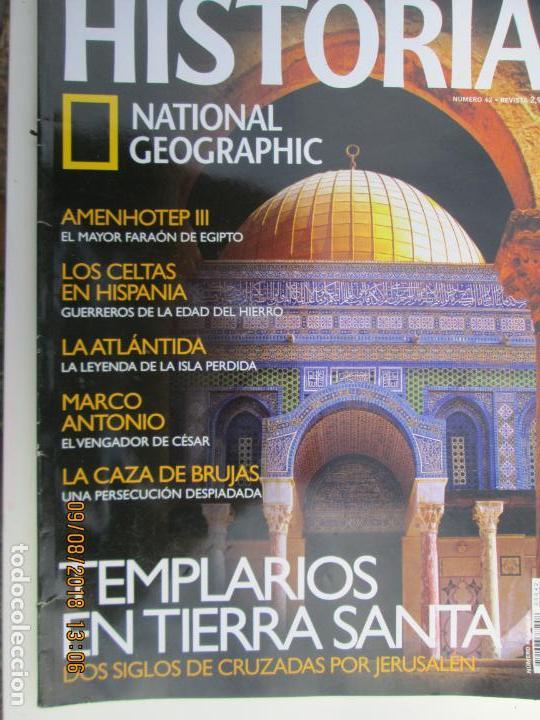 HISTORIA NATIONAL GEOGRAPHIC Nº 42 TEMPLARIOS EN TIERRA SANTA (Coleccionismo - Revistas y Periódicos Modernos (a partir de 1.940) - Revista National Geographic)