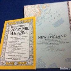 Coleccionismo de National Geographic: THE NATIONAL GEOGRAPHIC MAGAZINE - ED. ORIGINAL - JUNIO 1955, CON MAPA DESPLEGABLE. Lote 133948882