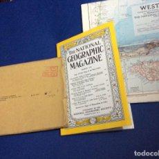 Coleccionismo de National Geographic: THE NATIONAL GEOGRAPHIC MAGAZINE - ED. ORIGINAL - MARZO 1954, CON MAPA DESPLEGABLE. Lote 133950274