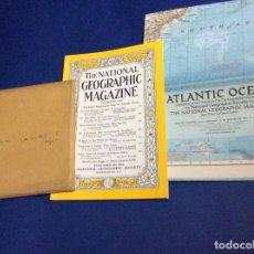 Coleccionismo de National Geographic: THE NATIONAL GEOGRAPHIC MAGAZINE - ED. ORIGINAL - DICIEMBRE 1955, CON MAPA DESPLEGABLE. Lote 133951834