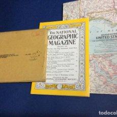 Coleccionismo de National Geographic: THE NATIONAL GEOGRAPHIC MAGAZINE - ED. ORIGINAL - JANEIRO 1955, CON MAPA DESPLEGABLE. Lote 133969850