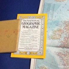 Coleccionismo de National Geographic: THE NATIONAL GEOGRAPHIC MAGAZINE - ED. ORIGINAL - JUNIO 1957, CON MAPA DESPLEGABLE. Lote 133969994