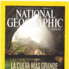 Coleccionismo de National Geographic: NATIONAL GEOGRAPHIC. FEBRERO 2011. LA CUEVA MÁS GRANDE DEL MUNDO. Lote 142258230