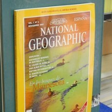 Coleccionismo de National Geographic: LMV - NATIONAL GEOGRAPHIC, EN LOS BOSQUES DE MINNESOTA. VOL. 1, NUM. 2, NOVIEMBRE 1997. Lote 146759878