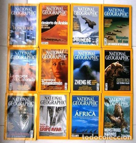 12 REVISTAS NATIONAL GEOGRAPHIC (AÑO 2005 COMPLETO) EDICIÓN ESPAÑOLA EN IDIOMA CASTELLANO (Coleccionismo - Revistas y Periódicos Modernos (a partir de 1.940) - Revista National Geographic)
