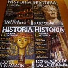 Coleccionismo de National Geographic: 4 REVISTAS NACIONAL GEOGRAPHIC HISTORIA. Lote 148872974