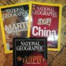 Coleccionismo de National Geographic: NATIONAL GEOGRAPHIC LOTE DE 3 REVISTAS-MARTE-CHINA-EGIPTO. Lote 150141844