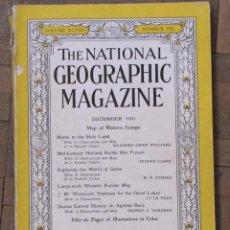 Coleccionismo de National Geographic: 4 NÚMEROS ANTIGUOS DE NATIONAL GEOGRAPHIC, EN INGLÉS: 1950, 1952, 1960, 1962.. Lote 151312206