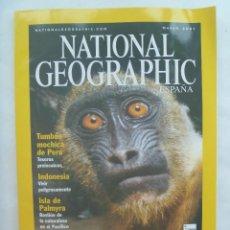 Coleccionismo de National Geographic: REVISTA NATIONAL GEOGRAPHIC, N º 3, 2001: ABISMO VERDE. TUMBAS MOCHICAS DEL PERU, ETC.... Lote 151313078