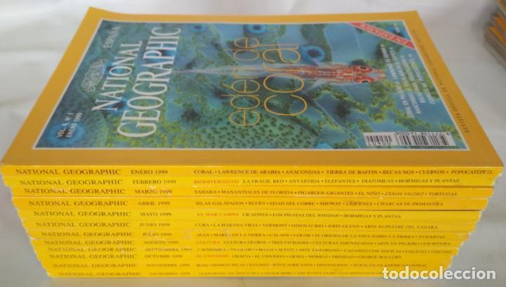LOTE DE 12 REVISTAS DE NATIONAL GEOGRAPHIC, AÑO 1999 COMPLETO (Coleccionismo - Revistas y Periódicos Modernos (a partir de 1.940) - Revista National Geographic)