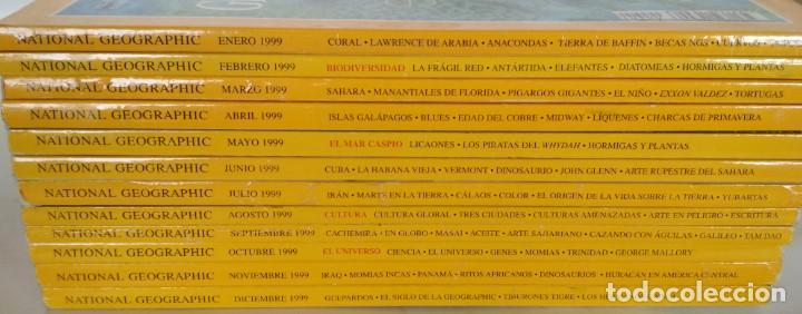 Coleccionismo de National Geographic: LOTE DE 12 REVISTAS DE NATIONAL GEOGRAPHIC, AÑO 1999 COMPLETO - Foto 2 - 154674158