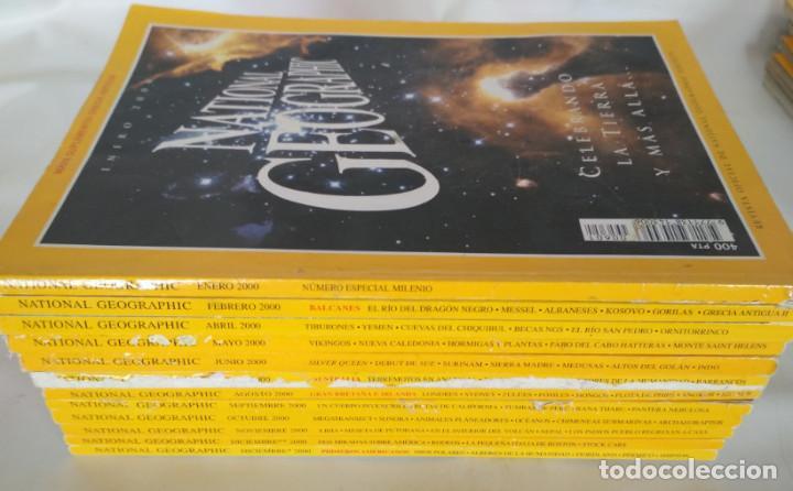 LOTE DE 12 REVISTAS DE NATIONAL GEOGRAPHIC DEL AÑO 2000 (Coleccionismo - Revistas y Periódicos Modernos (a partir de 1.940) - Revista National Geographic)