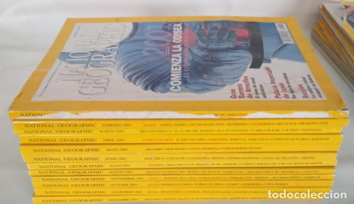 LOTE DE 12 REVISTAS DE NATIONAL GEOGRAPHIC, TODO EL AÑO 2001 (Coleccionismo - Revistas y Periódicos Modernos (a partir de 1.940) - Revista National Geographic)