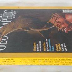 Coleccionismo de National Geographic: LOTE DE 3 REVISTAS DE NATIONAL GEOGRAPHIC, ENERO FEBRERO Y MARZO DE 2003. Lote 154679506