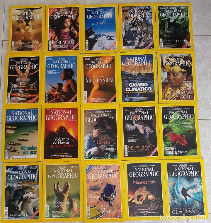 == T02 - LOTE DE 20 REVISTAS NATIONAL GEOGRAPHIC (Sammelleidenschaft Papier - Moderne Zeitschriften und Zeitungen - Zeitschrift National Geographic)
