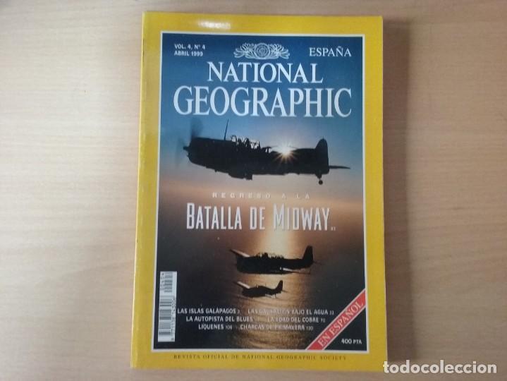 REGRESO A LA BATALLA DE MIDWAY. VOLUMEN 4, NÚMERO 4. ABRIL 1999. NATIONAL GEOGRAPHIC (Coleccionismo - Revistas y Periódicos Modernos (a partir de 1.940) - Revista National Geographic)