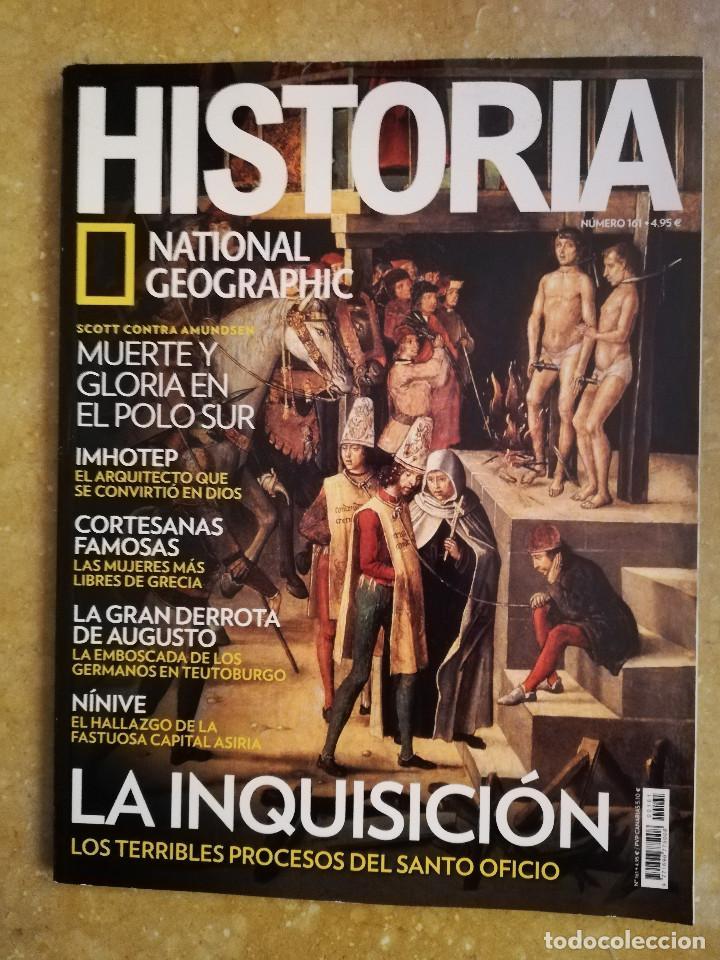 REVISTA HISTORIA NATIONAL GEOGRAPHIC Nº 161 (LA INQUISICIÓN) (Coleccionismo - Revistas y Periódicos Modernos (a partir de 1.940) - Revista National Geographic)