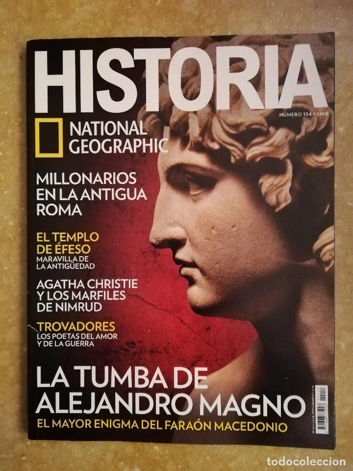 REVISTA HISTORIA NATIONAL GEOGRAPHIC Nº 154 (LA TUMBA DE ALEJANDRO MAGNO) (Coleccionismo - Revistas y Periódicos Modernos (a partir de 1.940) - Revista National Geographic)