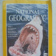 Coleccionismo de National Geographic: REVISTA NATIONAL GEOGRAPHIC, N º 4, 2000: TIBURON BLANCO, YEMEN, CUEVAS CHIQUIBUL, ETC... Lote 156767746
