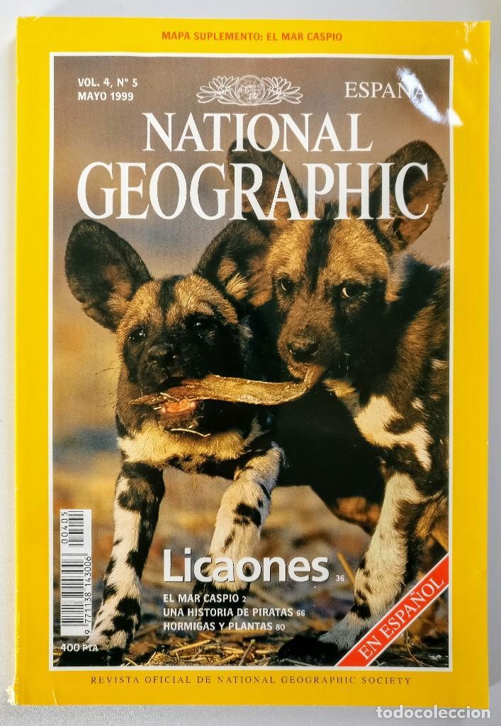 NATIONAL GEOGRAPHIC - VOL. 4 Nº 5 - MAYO 1999 - LICAONES (Coleccionismo - Revistas y Periódicos Modernos (a partir de 1.940) - Revista National Geographic)