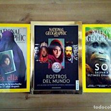 Coleccionismo de National Geographic: LOTE 3 REVISTAS NATIONAL GEOGRAPHIC, ROSTROS DEL MUNDO 20 ANIVERSARIO, ES ELLA, SOS.. Lote 163081546