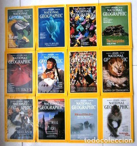 12 REVISTAS NATIONAL GEOGRAPHIC (AÑO 1994 COMPLETO) EDICIÓN ORIGINAL NORTEAMERICANA EN INGLÉS (Coleccionismo - Revistas y Periódicos Modernos (a partir de 1.940) - Revista National Geographic)