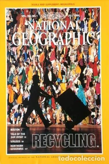 Coleccionismo de National Geographic: 12 Revistas National Geographic (Año 1994 completo) Edición original norteamericana en inglés - Foto 5 - 167736852