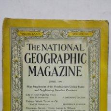 Coleccionismo de National Geographic: THE NATIONAL GEOGRAPHIC MAGACINE, VOLUMEN LXXIX - JUNIO 1941. Lote 171808772