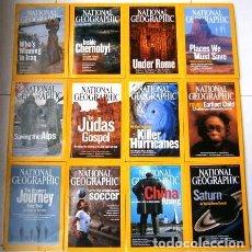 Coleccionismo de National Geographic: 12 REVISTAS NATIONAL GEOGRAPHIC (AÑO 2006 COMPLETO) EDICIÓN ORIGINAL NORTEAMERICANA EN INGLÉS. Lote 174153073