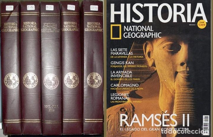 HISTORIA. NATIONAL GEOGRAFIC. 33 FASCICULOS EN 5 ESTUCHES, 2003 - 2006 - A-H-1118 (Coleccionismo - Revistas y Periódicos Modernos (a partir de 1.940) - Revista National Geographic)