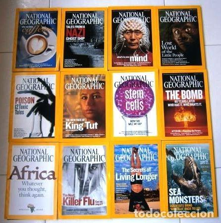 12 REVISTAS NATIONAL GEOGRAPHIC (AÑO 2005 COMPLETO) EDICIÓN ORIGINAL NORTEAMERICANA EN INGLÉS (Coleccionismo - Revistas y Periódicos Modernos (a partir de 1.940) - Revista National Geographic)
