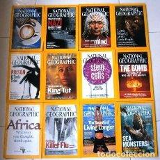 Coleccionismo de National Geographic: 12 REVISTAS NATIONAL GEOGRAPHIC (AÑO 2005 COMPLETO) EDICIÓN ORIGINAL NORTEAMERICANA EN INGLÉS. Lote 175067013