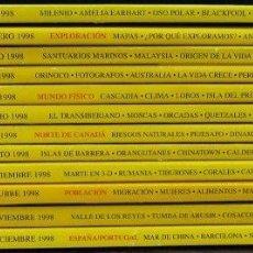 Coleccionismo de National Geographic: 12 NÚMEROS DE NATIONAL GEOGRAPHIC ESPAÑA, 1998, EN PERFECTO ESTADO. Lote 175451060