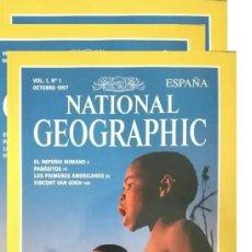 Coleccionismo de National Geographic: LOS TRES PRIMEROS NÚMEROS DE NATIONAL GEOGRAPHIC ESPAÑA, 1997, AÑO 1, NRº 1, NRº 2 Y NRº 3. Lote 175582893