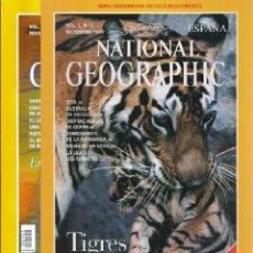 Coleccionismo de National Geographic: SEGUNDO Y TERCER NUMERO EN ESPAÑA DE NATIONAL GEOGRAPHIC, 199, AÑO I, VOL I, NRº 2 Y NRº 3, NUEVOS. Lote 175641693
